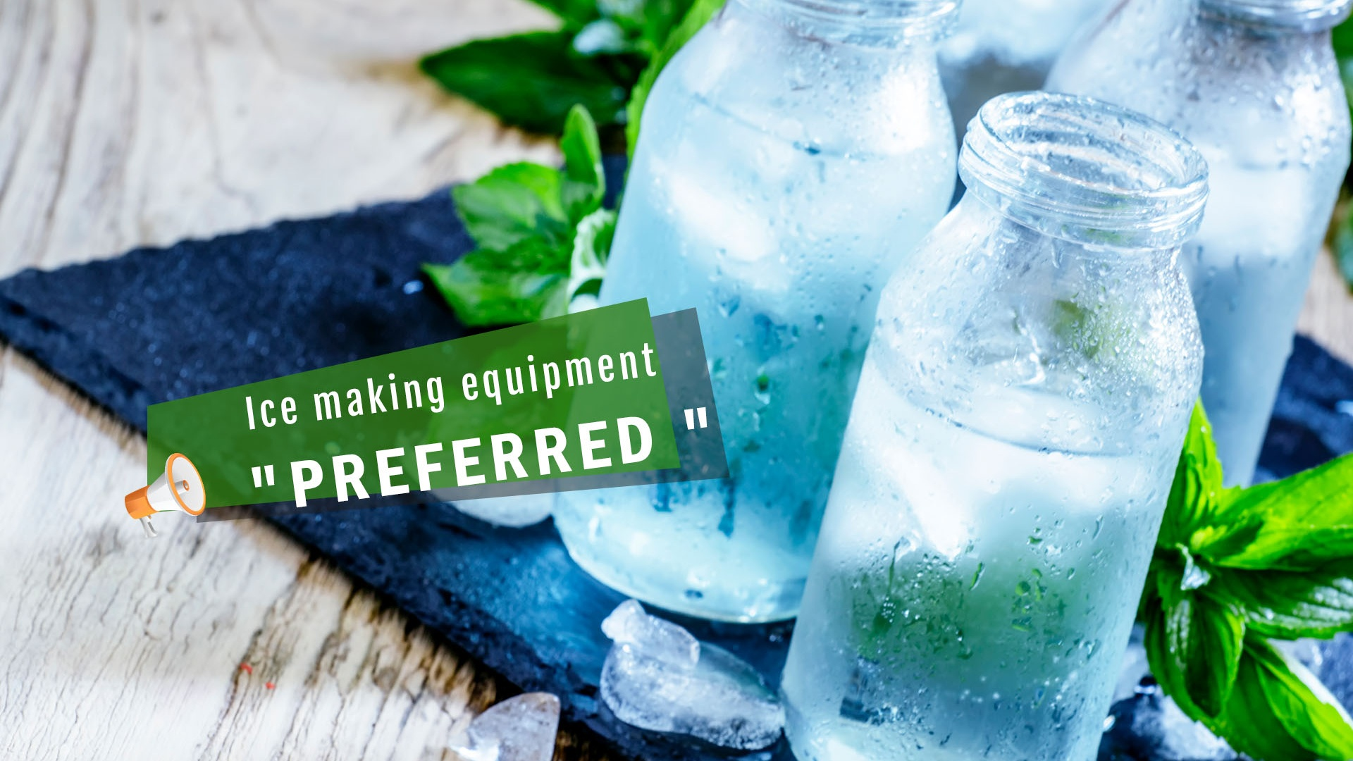 Ice freezing equipment preferred